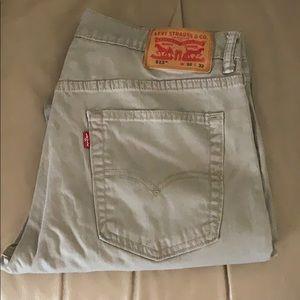 Levi's 513 Men Khaki Jeans Denim 32 x 32